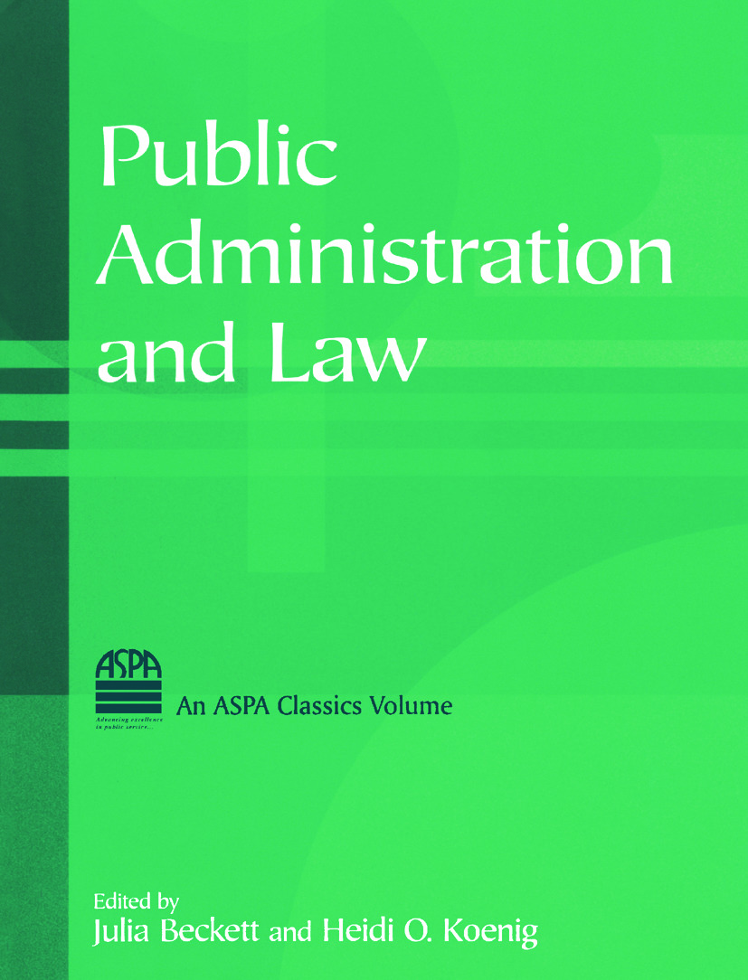 Public Administration and Law: 1st Edition (Hardback) book cover