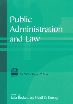 Public Administration and Law: 1st Edition (Paperback) book cover