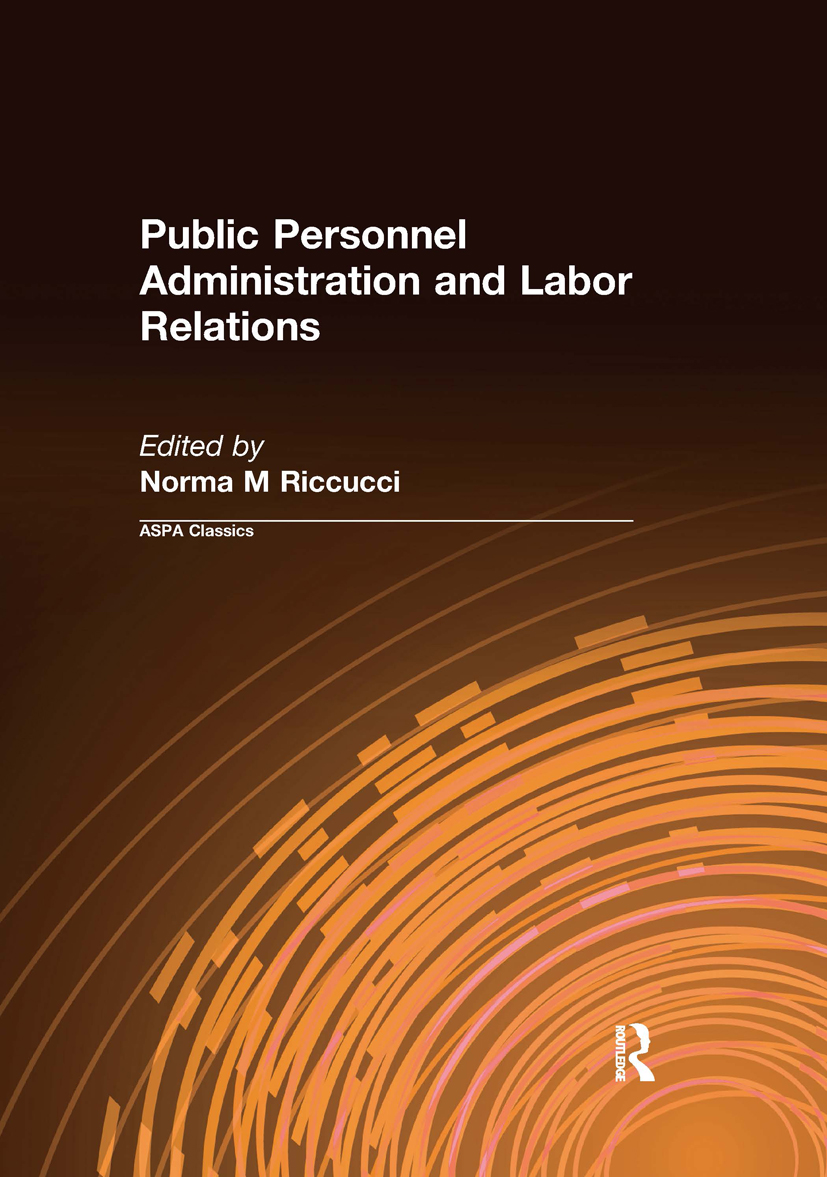 Public Personnel Administration and Labor Relations: 1st Edition (Paperback) book cover