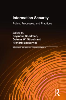 Information Security: Policy, Processes, and Practices, 1st Edition (Hardback) book cover