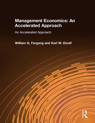 Management Economics: An Accelerated Approach: An Accelerated Approach, 1st Edition (Paperback) book cover