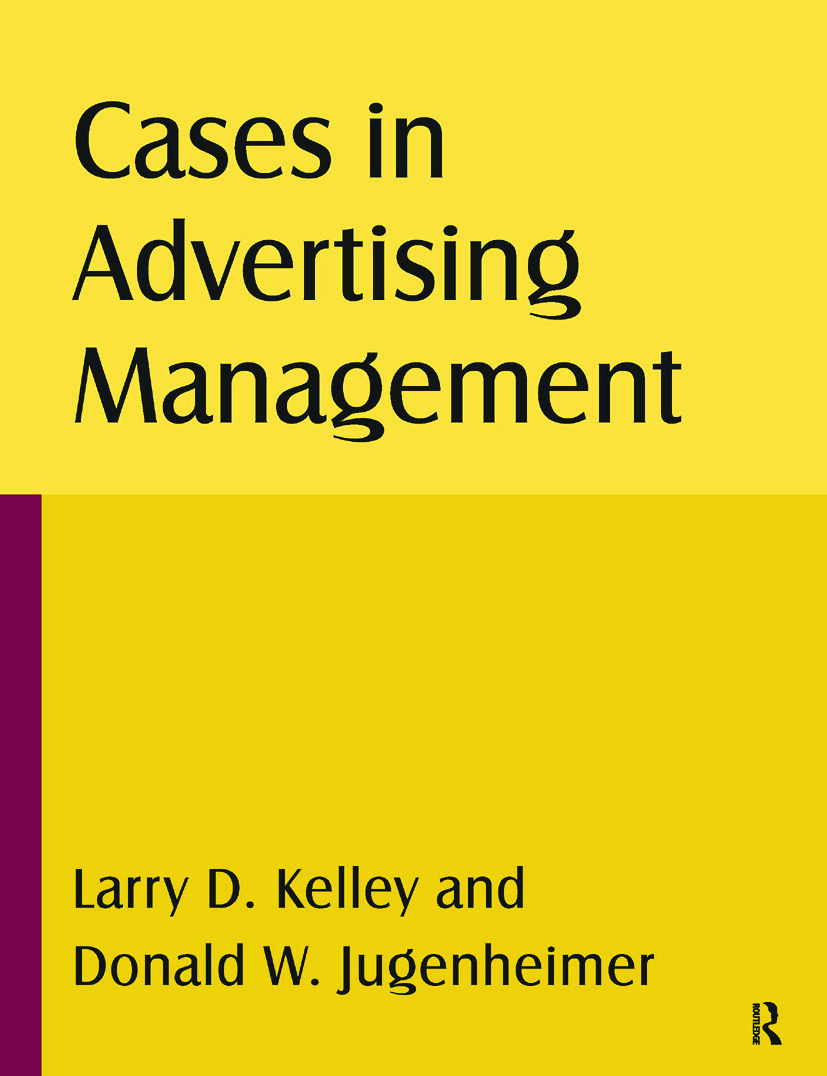 Cases in Advertising Management: 1st Edition (Paperback) book cover