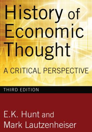 History of Economic Thought: A Critical Perspective, 3rd Edition (Hardback) book cover