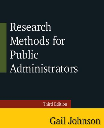 Research Methods for Public Administrators: Third Edition, 3rd Edition (Paperback) book cover