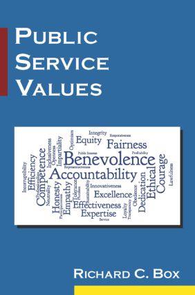 Public Service Values: 1st Edition (Paperback) book cover