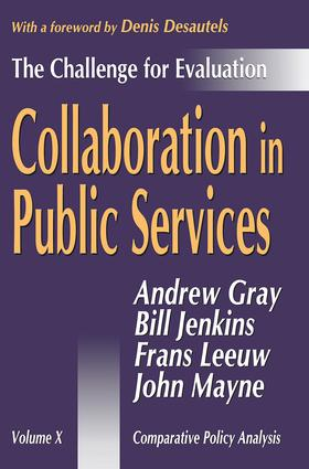 Collaboration by Contract and Pooling Resources: The Implications for Evaluation