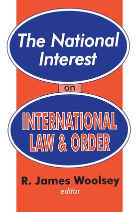 The National Interest on International Law and Order: 1st Edition (Paperback) book cover