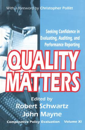 Quality Matters: Seeking Confidence in Evaluating, Auditing, and Performance Reporting book cover