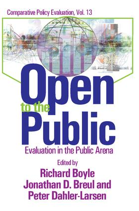 Open to the Public: Evaluation in the Public Sector book cover