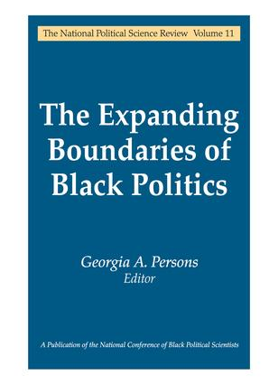 The Expanding Boundaries of Black Politics: 1st Edition (Paperback) book cover