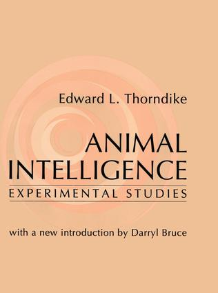 Animal Intelligence: Experimental Studies, 1st Edition (Paperback) book cover