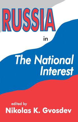 Russia in the National Interest: 1st Edition (Paperback) book cover