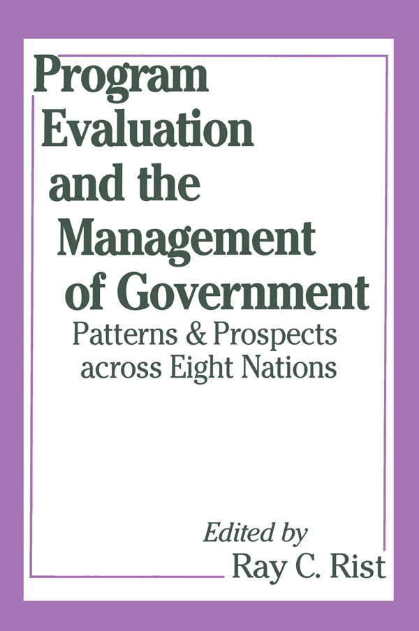 Program Evaluation and the Management of Government