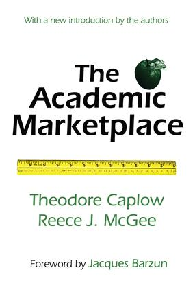 The Academic Marketplace: 2nd Edition (Paperback) book cover