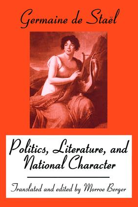 Politics, Literature and National Character: 1st Edition (Paperback) book cover