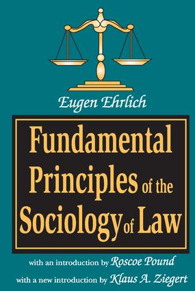 Fundamental Principles of the Sociology of Law: 1st Edition (Paperback) book cover