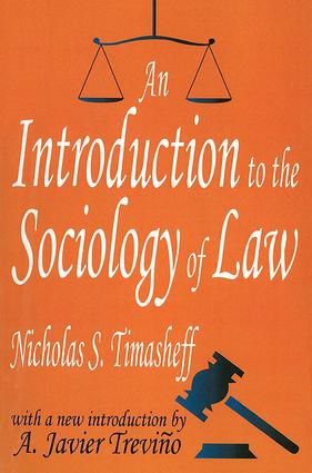 An Introduction to the Sociology of Law: 1st Edition (Paperback) book cover