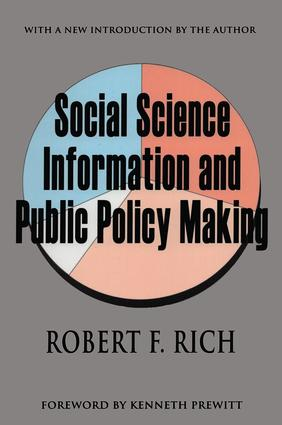Social Science Information and Public Policy Making: 1st Edition (Paperback) book cover