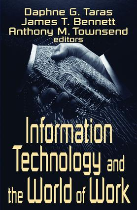 Information Technology and the World of Work: 1st Edition (Paperback) book cover
