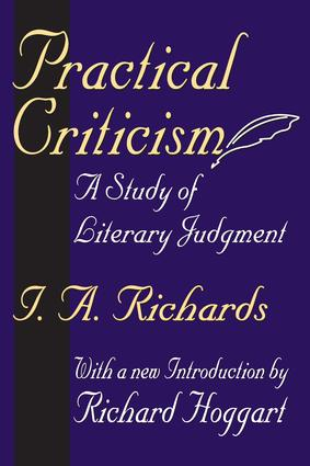 Practical Criticism: A Study of Literary Judgment, 1st Edition (Paperback) book cover