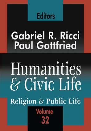 Humanities and Civic Life: Volume 32 book cover
