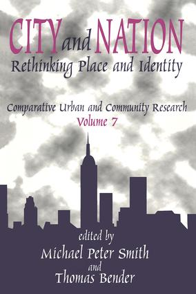 City and Nation: Rethinking Place and Identity, 1st Edition (Paperback) book cover