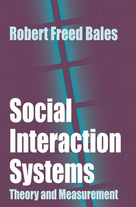 Social Interaction Systems: Theory and Measurement, 1st Edition (Paperback) book cover