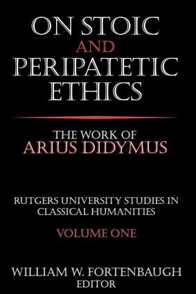On Stoic and Peripatetic Ethics: The Work of Arius Didymus book cover