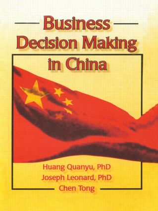 Business Decision Making in China: 1st Edition (Paperback) book cover