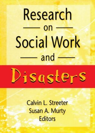 Research on Social Work and Disasters: 1st Edition (Paperback) book cover