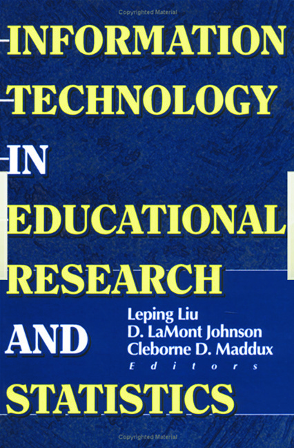 Information Technology in Educational Research and Statistics: 1st Edition (Hardback) book cover