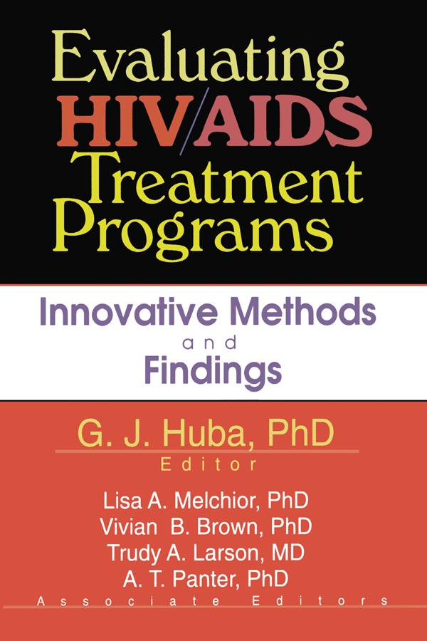 Evaluating HIV/AIDS Treatment Programs: Innovative Methods and Findings (Paperback) book cover