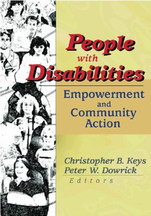 People with Disabilities: Empowerment and Community Action (Paperback) book cover