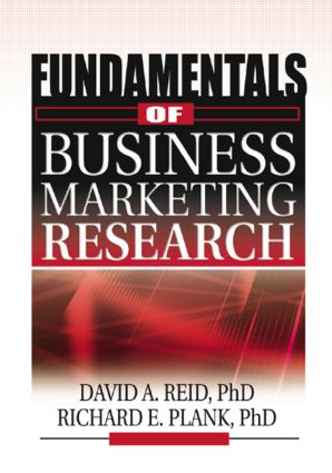 Fundamentals of Business Marketing Research: 1st Edition (Paperback) book cover