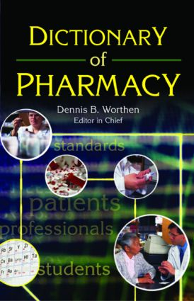 Dictionary of Pharmacy: 1st Edition (Paperback) book cover