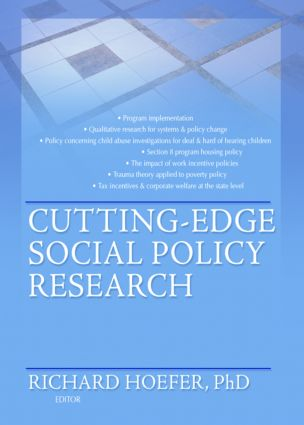 Cutting-Edge Social Policy Research (Paperback) book cover
