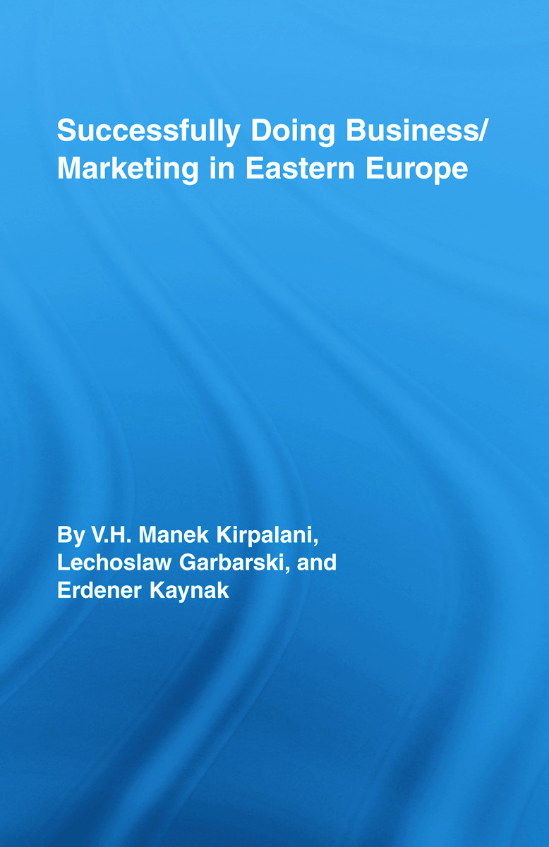 Successfully Doing Business/Marketing In Eastern Europe: 1st Edition (Hardback) book cover