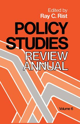 Policy Studies: Review Annual: Volume 6, 1st Edition (Hardback) book cover