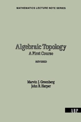 Algebraic Topology: A First Course, 1st Edition (Paperback) book cover