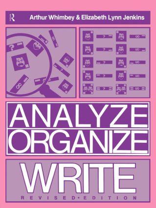 Analyze, Organize, Write (Paperback) book cover