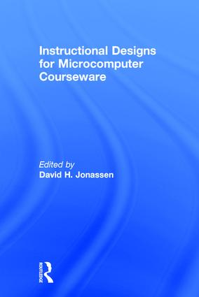 Instruction Design for Microcomputing Software: 1st Edition (Paperback) book cover
