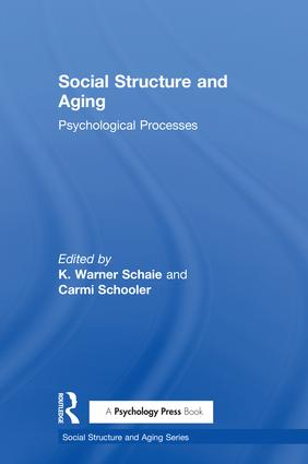 Social Structure and Aging: Psychological Processes (Hardback) book cover