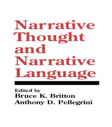 Narrative Thought and Narrative Language (Hardback) book cover