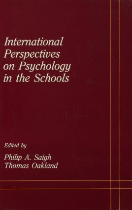 International Perspectives on Psychology in the Schools (Hardback) book cover