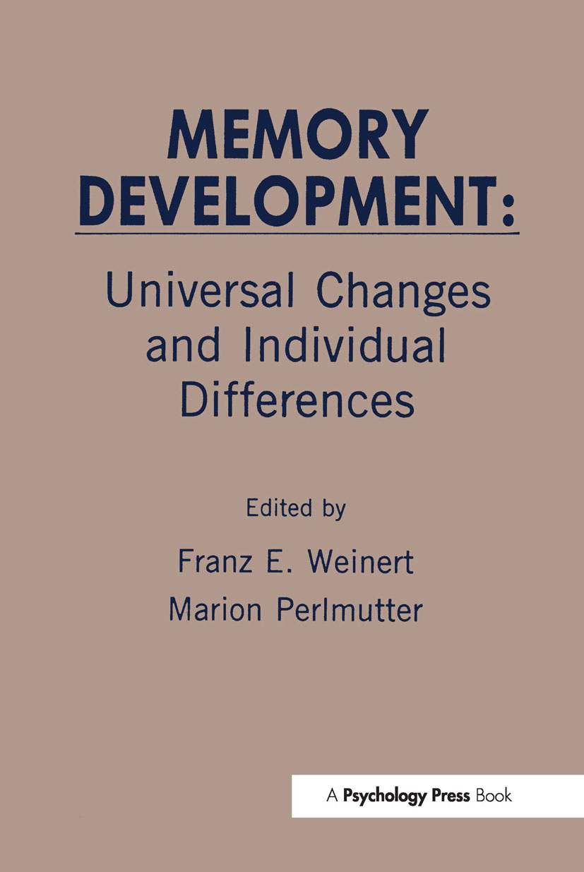 Memory Development: Universal Changes and Individual Differences (Hardback) book cover