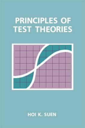 Principles of Test Theories (Paperback) book cover