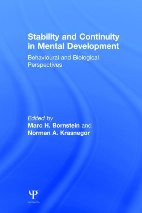 Stability and Continuity in Mental Development: Behavioral and Biological Perspectives (Hardback) book cover
