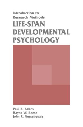 Life-span Developmental Psychology: Introduction To Research Methods (Paperback) book cover