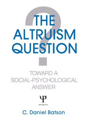 Other Possible Sources of Altruistic Motivation: The Altruistic Personality