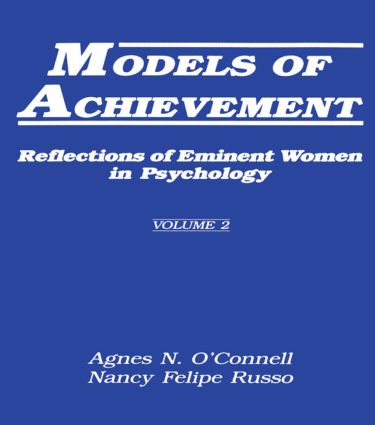 Models of Achievement: Reflections of Eminent Women in Psychology, Volume 2 (Paperback) book cover